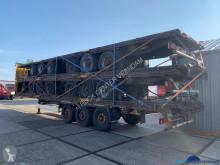 Félpótkocsi Krone flatbed 5-stack használt függönyponyvaroló