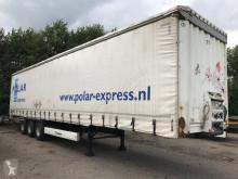 Krone 3-assige schuifoplegger BPW-assen semi-trailer used tautliner