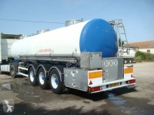 Magyar CITERNE INOX ALIMENTAIRE MONOCUVE CALORIFUGEE 34T + MOTEUR 23000L 3 ESSIEUX SAF SUSPENSIONS AIR FREINS TAMBOURS semi-trailer used food tanker