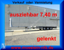 Semi remorque Meusburger 3 Achs Tele- Auflieger, 7,40 m ausziehbar, gele plateau occasion