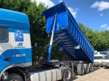 Wabco half-pipe semi-trailer 3 Axle Steel Tipper trailer full steel suspension