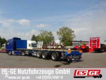 Sættevogn Es-ge 3-Achs-Sattelauflieger in Leichtbauweise - tele flatbed brugt