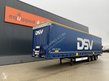 Krone Mega, Hubdach, Scheibebremsen, Rungtasschen, Huckepack semi-trailer used tautliner