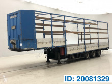 Semi remorque Metaco Low bed tautliner trailer porte engins occasion