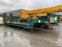 2-AS DIEPLADER BLADVERING - BELGISCHE PAPIEREN / LOWLOADER - STEEL SPRING - LAMES semi-trailer used heavy equipment transport