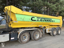 Kaiser 2-AS HALF PIPE KIPPER - STEEL BUCKET - STEEL CHASSIS - HYDR ACHTERKLEP / VALVE - AIR SUSPENSION - CLEAN semi-trailer used tipper