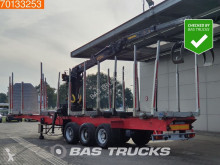 نصف مقطورة ناقلة خشب Lecitrailer R3S Wood Trailer Jonsered 1090 Crane