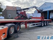 LAG flatbed semi-trailer open oplegger met Kennis 2014 R14 60-2 rollerkraan