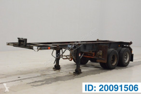 Flandria 20 ft skelet semi-trailer used container
