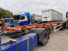 Semi remorque porte containers Van Hool 5 PIECES 3 AS - BPW + DOUBLE BDF SYSTEM