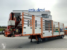Schwarzmüller flatbed semi-trailer SPA 1 mit Fassi F190 | Achse gelenkt