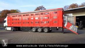 """Návěs přívěs pro přepravu dobytka Menke 3 Stock Hubdach Liftachse """"NEU"""" Vollalu"""