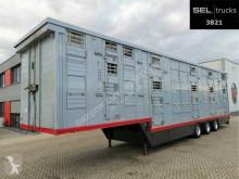 Semirimorchio Pezzaioli SAV 35 / 3 Stock / Liftachse / Hubdach rimorchio per bestiame usato
