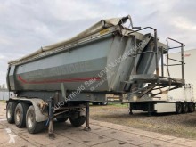 Meiller tipper semi-trailer Stahlmulde MHKS 41/3-G-24 m3-Liftachse-Rollplane