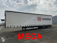 Náves Krone Mega 3 m Innenhöhe SZS300 Twin2 Achs Planenaufl valník s bočnicami a plachtou ojazdený