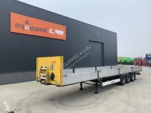 Krone flatbed semi-trailer BPW, Trommelbremsen, Bordwände, Huckepack