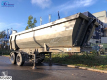 Semitrailer Meiller kipper Steel chassis and steel loading platform flak begagnad