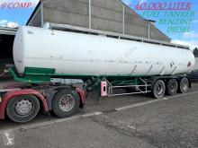Semi remorque citerne produits chimiques Trailor FUEL TANKER / CITERNE MAZOUT - 40.000 L (39.905L) - 9 COMPARTIMENTS / 9 KAMMERN - DIESEL / BENZINE --- MAZOUT / ESSENCE