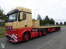 Félpótkocsi Nooteboom tele-trailer használt plató