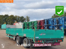 S1225 11m80 Long 2x Steeraxle semi-trailer used flatbed