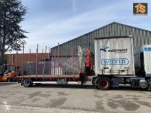 Návěs Van Hool City trailer Cran/Krane HMF - BELGIUM TOP TRAILER plošina použitý