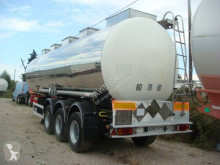 BSLT chemical tanker semi-trailer CITERNE INOX CHIMIQUE MONOCUVE 34T 33000L SUSPEBNSIONS AIR FREINS A DISQUES