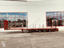 Goldhofer heavy equipment transport semi-trailer 3 Achs Mega Plateau Satteltieflader, gelenkt--