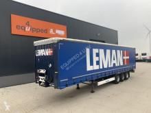 Semitrailer skjutbara ridåer (flexibla skjutbara sidoväggar) Krone BPW, Rungtasschen, XL-Plane, 80% Reifen