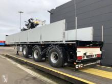 Sættevogn flatbed sidetremmer Pacton Nieuw! met Kennis R16-3 kraan