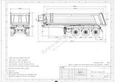 Semi remorque benne EuromixMTP Kipper Auflieger AMT 24 3-Achser SAF