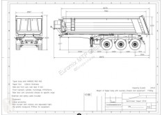Semi remorque EuromixMTP Kipper Auflieger AMT 27 3-Achser SAF benne occasion