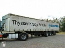 Félpótkocsi Krone Langmaterialtransporter*Pritsc használt ponyvával felszerelt plató