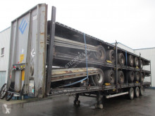 Semi remorque châssis LAG Stack of 5 Mega Trailers , 3 BPW Axles , 2 Driving positions , Drum Brakes , Air Suspension