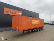 Semi remorque porte containers Broshuis 45FT HC multi + 1x 40FT HC-container, BPW+Drum, 2x extendable, 1x liftaxle, Dutch trailer, APK: 01-2021