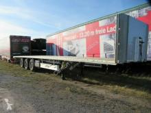 Fliegl dropside flatbed semi-trailer Plateau, BPW Scheibe,leichter Unfallschaden,Lift