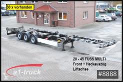 Schmitz Cargobull chassis semi-trailer SCF 24 G -45 EURO Multi 20 bis 45 , Front + Heckauszug