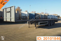 Renders flatbed semi-trailer Plateau