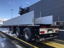 Pacton dropside flatbed semi-trailer kraanoplegger met Kinetic 13R-2X (Lichte combinatie)