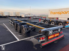 Semitrailer containertransport Lecitrailer châssis droit multi position