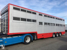 Leveques 2 étages - 2 compartiments semi-trailer used livestock trailer