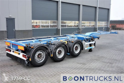D-TEC FLEXITRAILER | 2x20-30-40-45ft HC * DISC BRAKES * APK 02-2021 semi-trailer used container