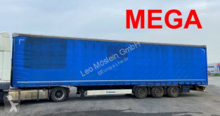 Félpótkocsi Krone Mega 3 Achs Planenauflieger használt ponyvával felszerelt plató