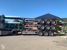 Semitrailer platta EuromixMTP Schemel Holz 3-Achser
