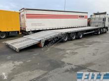 H&W flatbed semi-trailer open oplegger, achterzijde knikbaar tbv oprijden, camper/auto/caravan