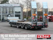 Félpótkocsi ES-GE Es-ge 3-Achs-Satteltieflader mit Radmulden használt gépszállító