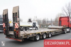 Semi reboque MAC S3-44 , 3 axles , 9 x 3m , hydraulic ramps , deck 93cm porta máquinas usado