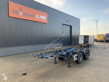 Semitrailer containertransport Van Hool 20FT, SAF, drumbrakes