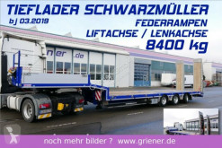 Schwarzmüller heavy equipment transport semi-trailer F serie /LENKACHSE / LIFT / RAMPEN / SAF