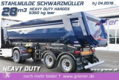 Sættevogn Schwarzmüller K serie /STAHLMULDE 5350 KG 28m³ HARDOX H. DUTY kassevogn brugt