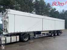 Semi remorque Benalu 80m3 GROSS VOLUME KIPPER - ALU / ALU - DISC BRAKES - AIR SUSPENSION - LUFTFEDERUNG + SCHEIBENBREMSEN - GOOD CONDITION / GUTE ZUS benne accidentée